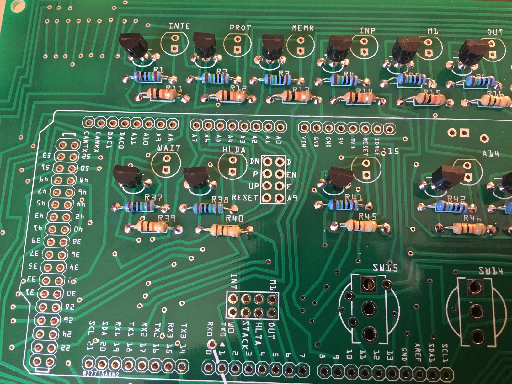 Build Instructions Beta Adwater Stir Electronic Components Including Circuit Boards Sit In A Pile Before Just Make Sure The Flat End Of Resistor Is Facing Up Like Image Printed On Board